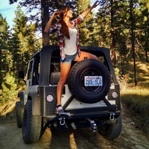 Jeep Girl Giving Directions To The Top Of The Mountain