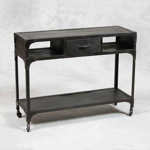 Industrial Metal Console Table Industrial Console Tables Metal