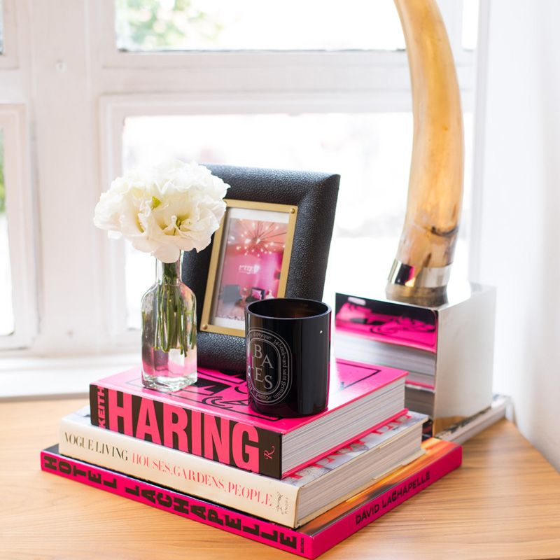 hot pink accents