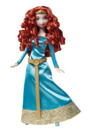 Disney/Pixar Brave Merida Doll by Mattel. $12.98. Based on character Merida from the Disney/Pixar hit Brave. Perfect gift for girls. A must have for any Disney fan. Sparkling fashion inspired by the film. Recreate your favorite scenes from the movies. From the Manufacturer                Brave Merida Doll: Merida, the new heroine from Disney Pixar's new feature film, Brave, is a courageous young woman with fiery red hair and the spirit to match. The Merida doll brings th...