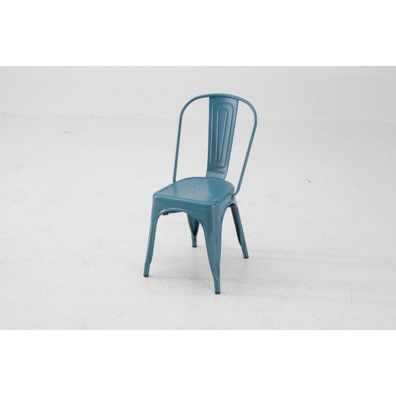 Chaise De Jardin En Acier Soho Bleu Leroy Merlin Avec Images