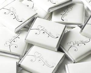 Bordkort Sjokoladeplate Hvit Solv Just Married Pynt Til Fest Tips Inspirasjon Og Gode Ideer Til Din Fest 5 Kr Stk Med Billeder Bryllup Fest Solv