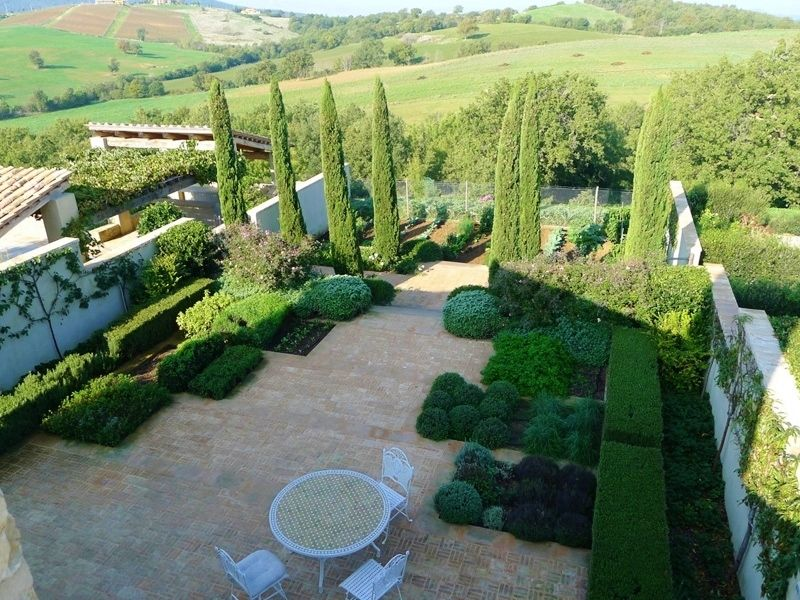 Beautiful Garden in Tuscany by del Buono Gazerwitz landscape ...