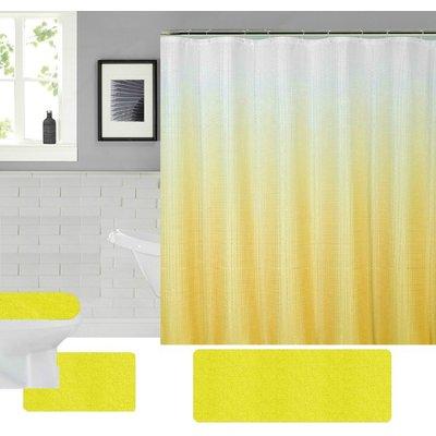 Symple Stuff Theus 4 Piece Shower Curtain Set Hooks Colour
