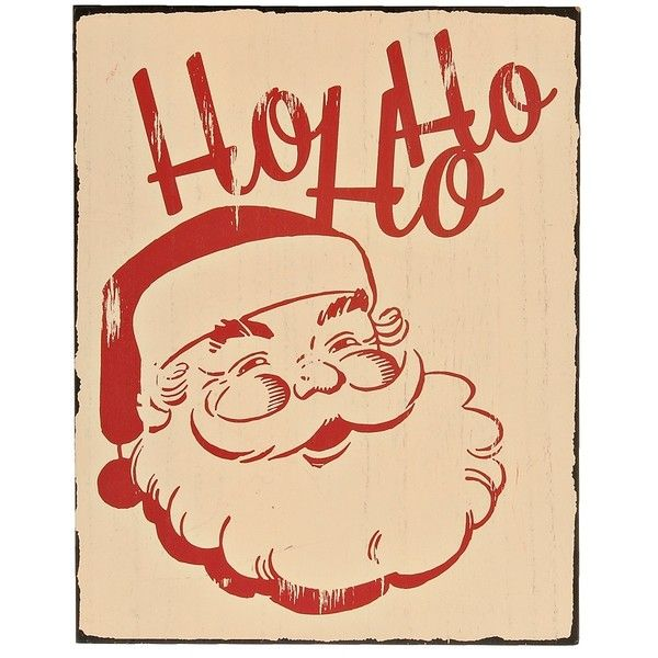 Ho Ho Ho Vintage Santa Claus Wall Plaque (€12) ❤ liked on Polyvore ...