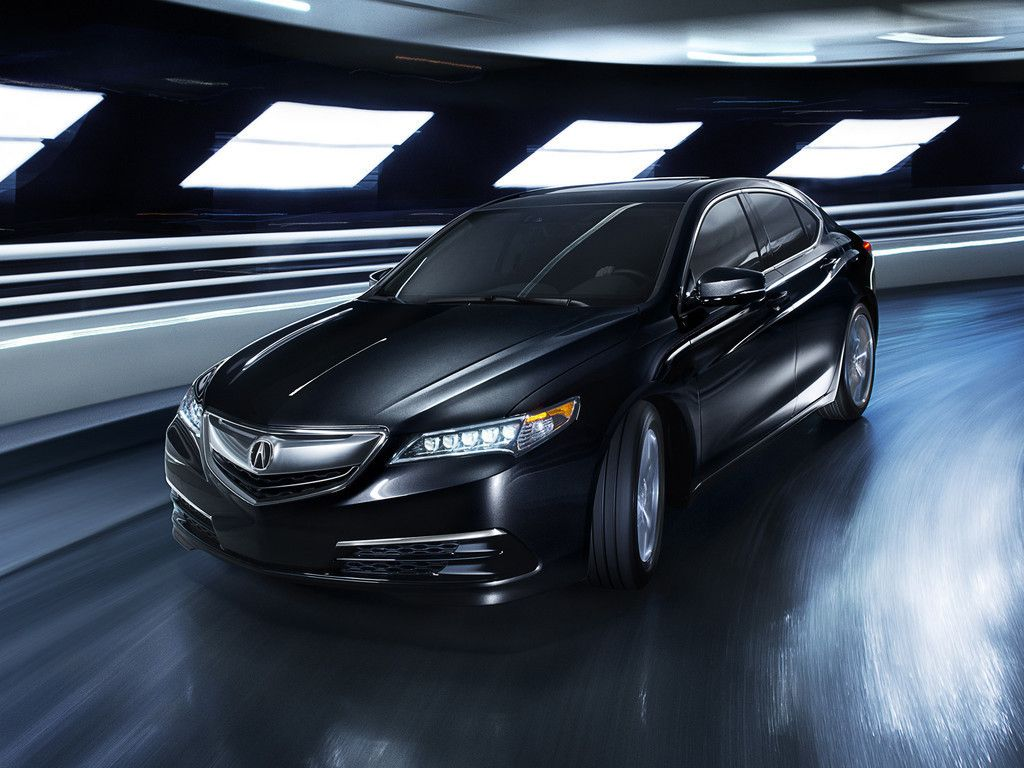 2017 Acura Tlx Luxury Sedan Car Front View Black Wallpaper