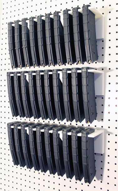AR-15 PMAG Magazine Holder Rack Holds 10 Magazines 5.56 ...