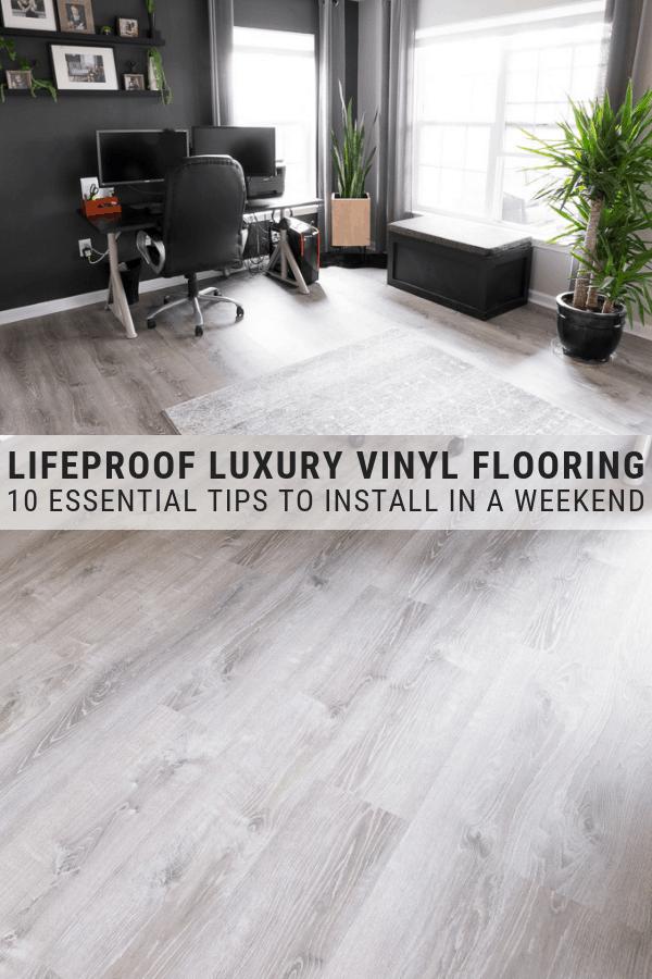 Lifeproof Vinyl Flooring Installation How To Install Lifeproof Vinyl Flooring Lifeproof Vinyl Flooring Luxury Vinyl Plank Flooring Vinyl Flooring