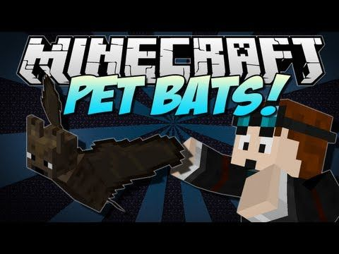 Minecraft | PET BATS! (Feed Them Pie & Call Them Your Own