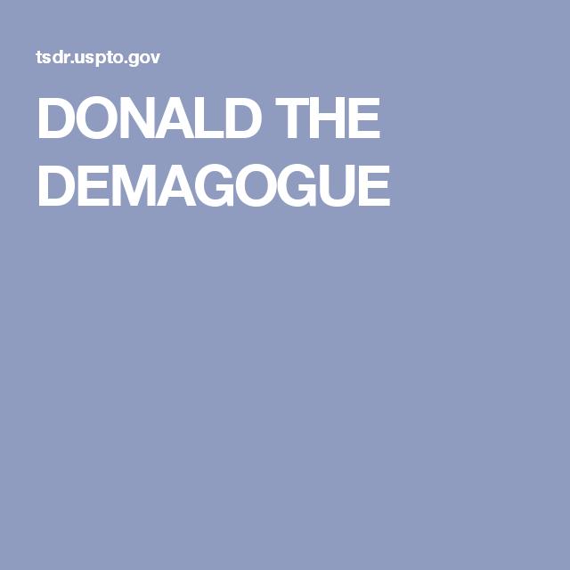 Donald The Demagogue Donald Governor Social