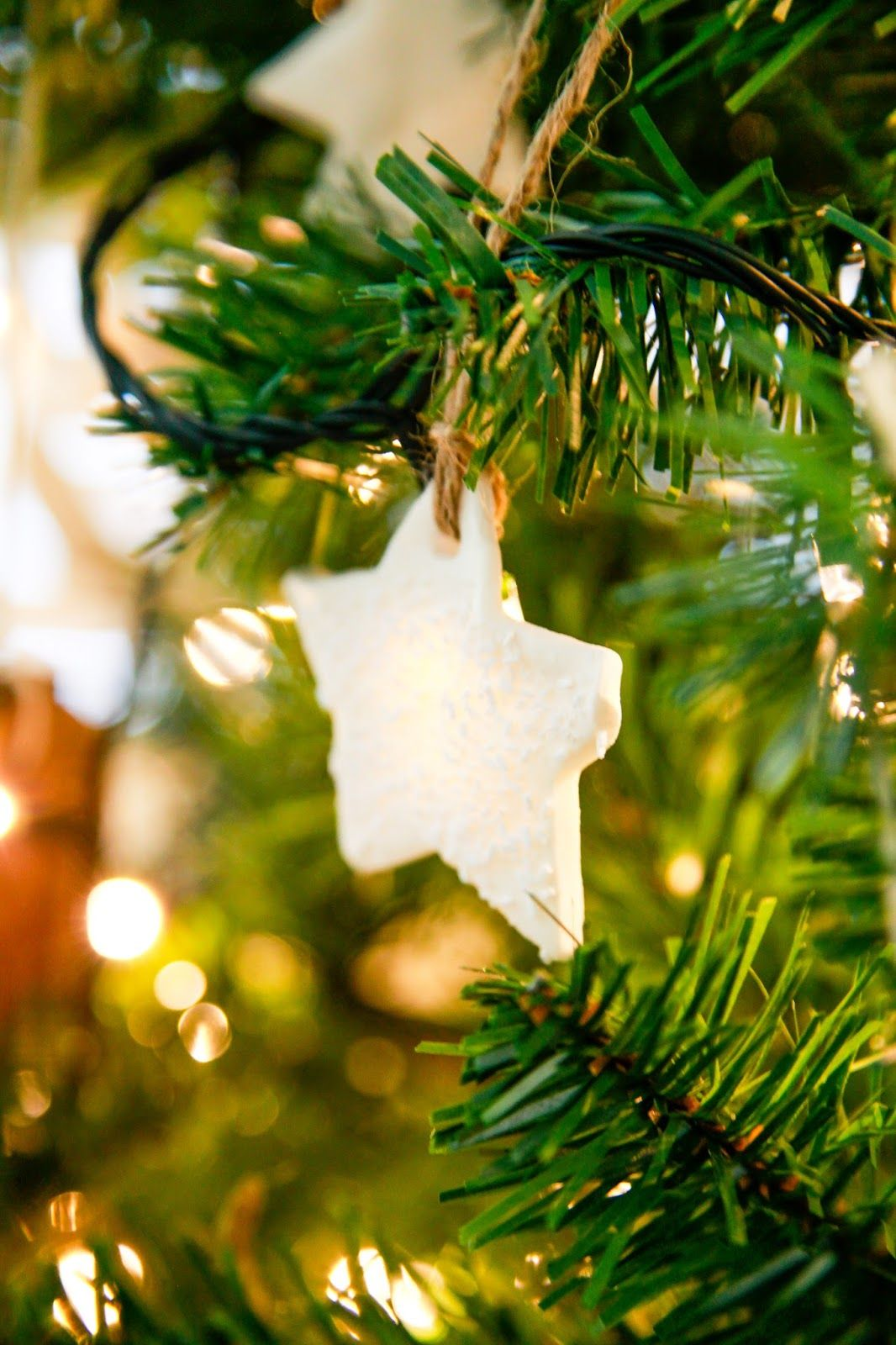 Oh Christmas Tree... White Dough Christmas Decorations   The ...