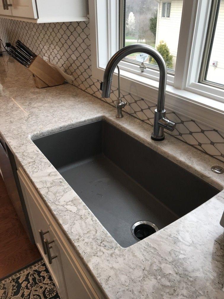 HomeCrest Cabinetryu0027s Sedona Maple Alpine, Cambria Berwyn Countertops, Blanco  Undermount Sink, Jeffrey Alexander Key West Hardware, Kitchen Aid Cooktop  And ...