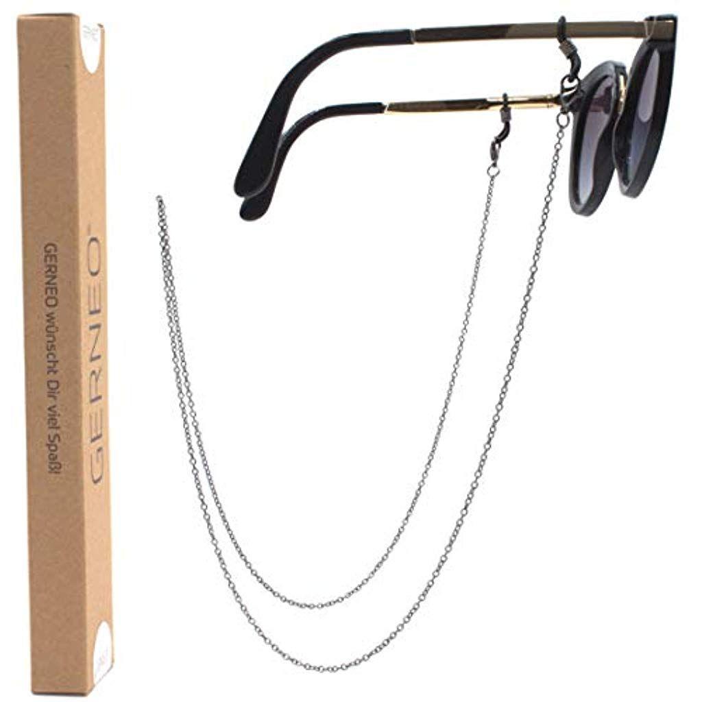 Premium Brillenkette /& Brillenband in Ketten Optik in diversen Farben DAS ORIGINAL GERNEO Unisex f/ür Lesebrille /& Sonnenbrille SOMMER KOLLEKTION 2019