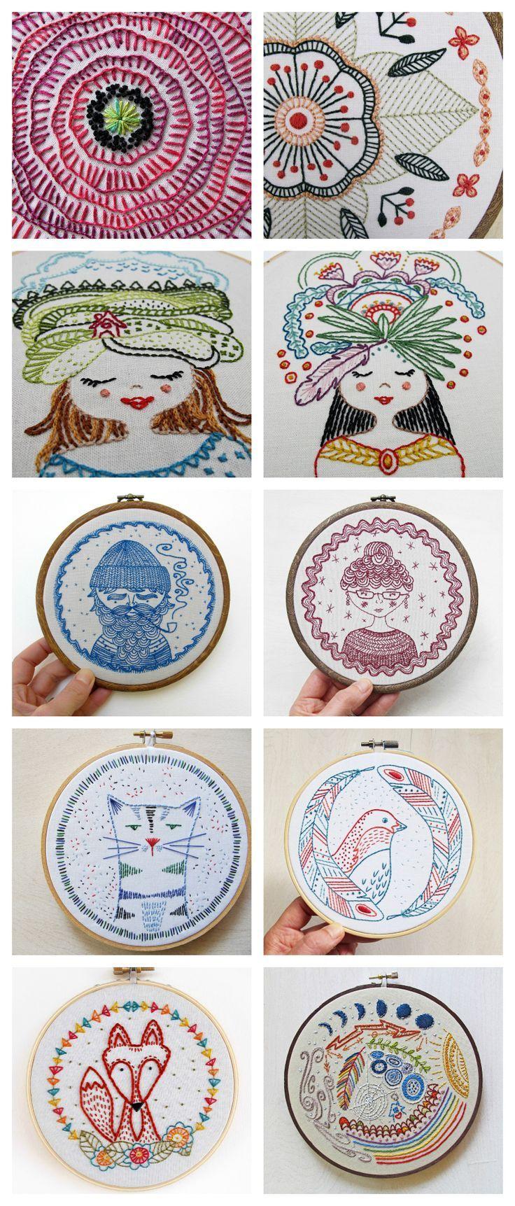 cozyblue embroidery patterns | Hobi | Pinterest | Bordado, Hilo y ...