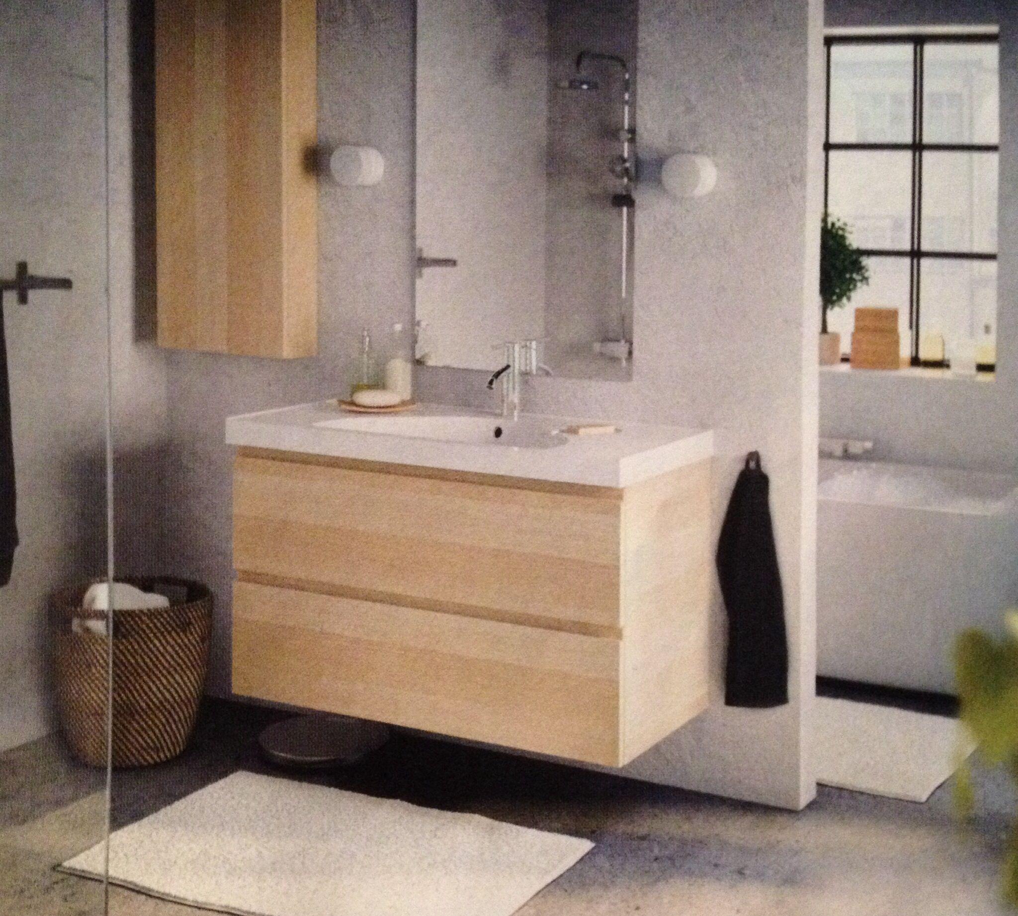 badrum ikea fr n k k bad bathroom pinterest badezimmer badezimmer eiche und schrank. Black Bedroom Furniture Sets. Home Design Ideas