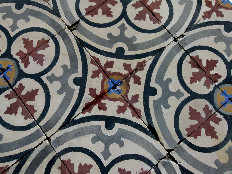 Early 20th Century French Carreaux De Ciment Encaustic Floor Tiles