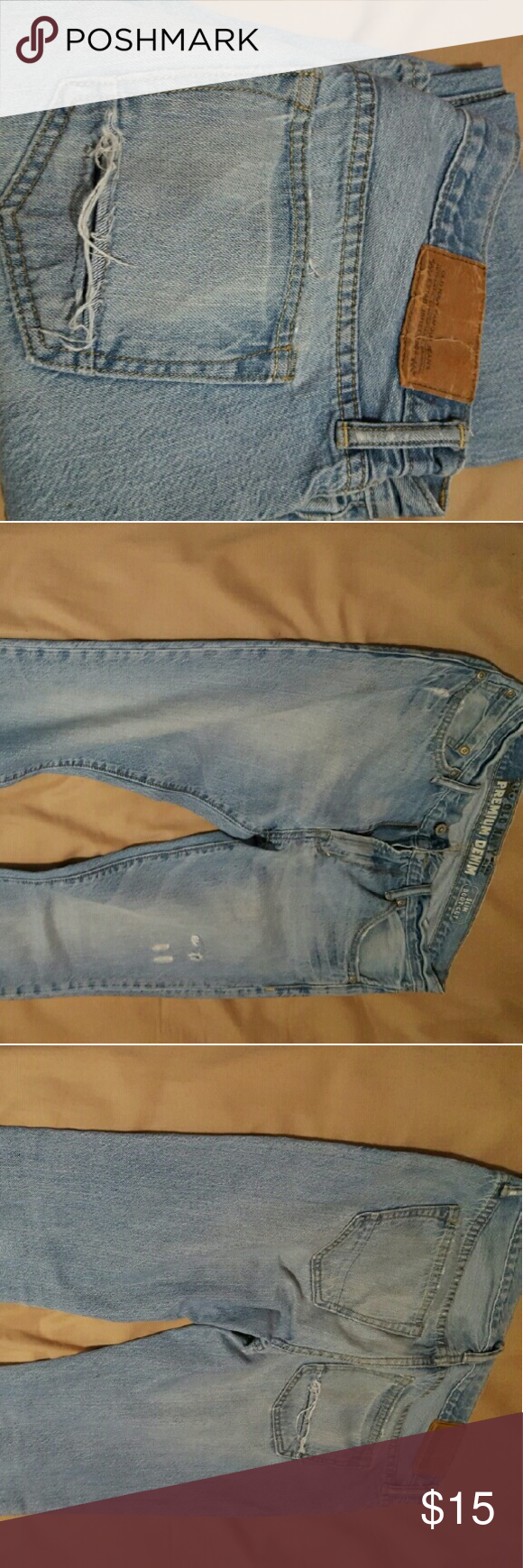 Mens old navy jeans Distressed designed jeans from old navy Old Navy Jeans Slim Straight