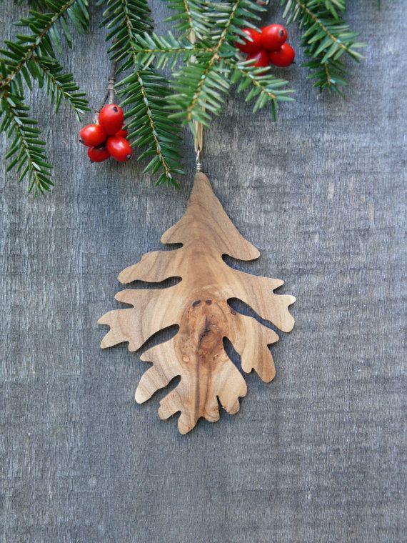 natural wood christmas ornament oak leaf ornament eco etsy wood christmas ornaments leaf ornament christmas ornaments natural wood christmas ornament oak