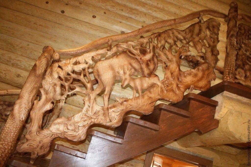 Резные изделия на лестницу фото