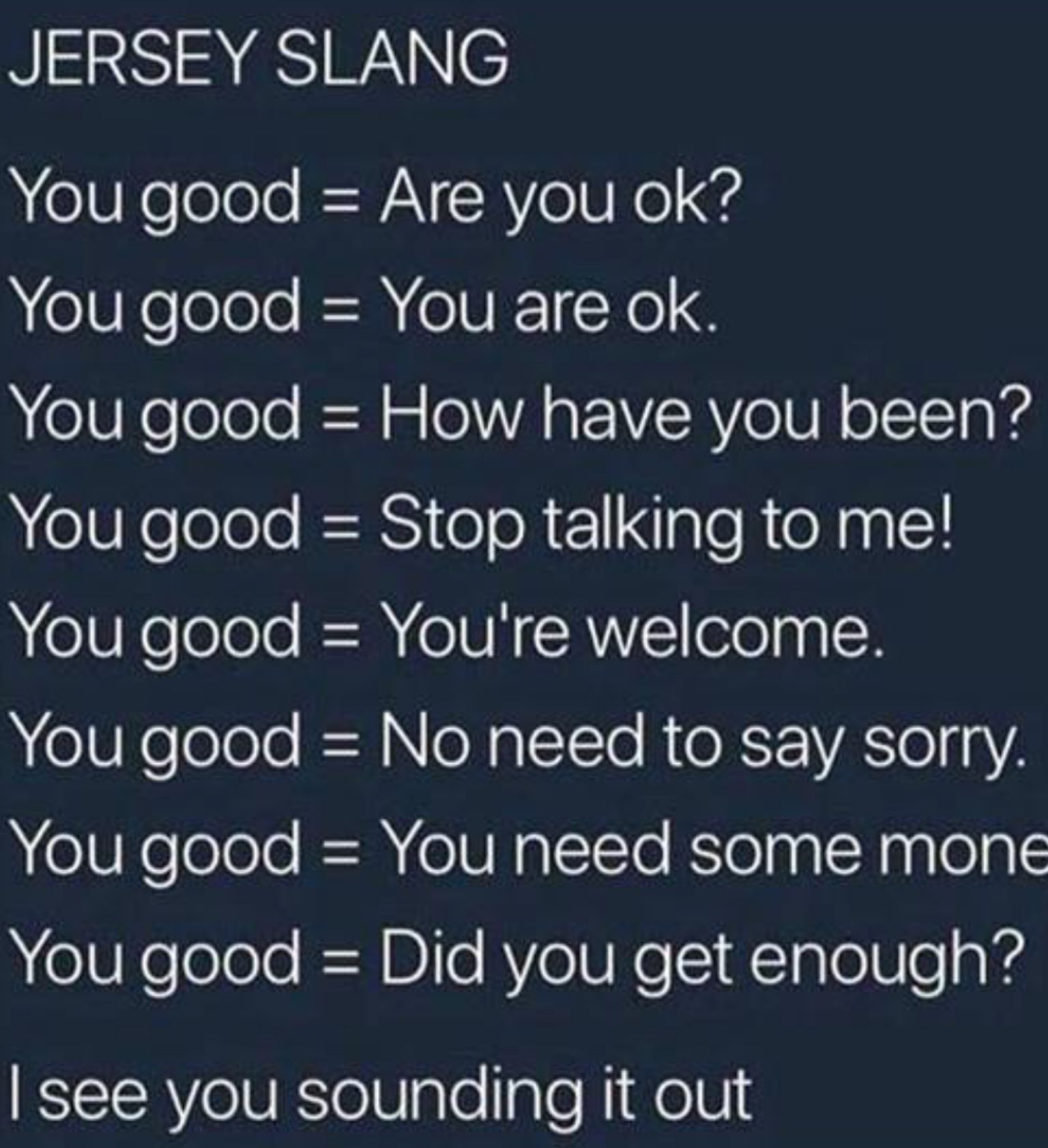 Jersey Slang Funny Quotes Slang Words Words