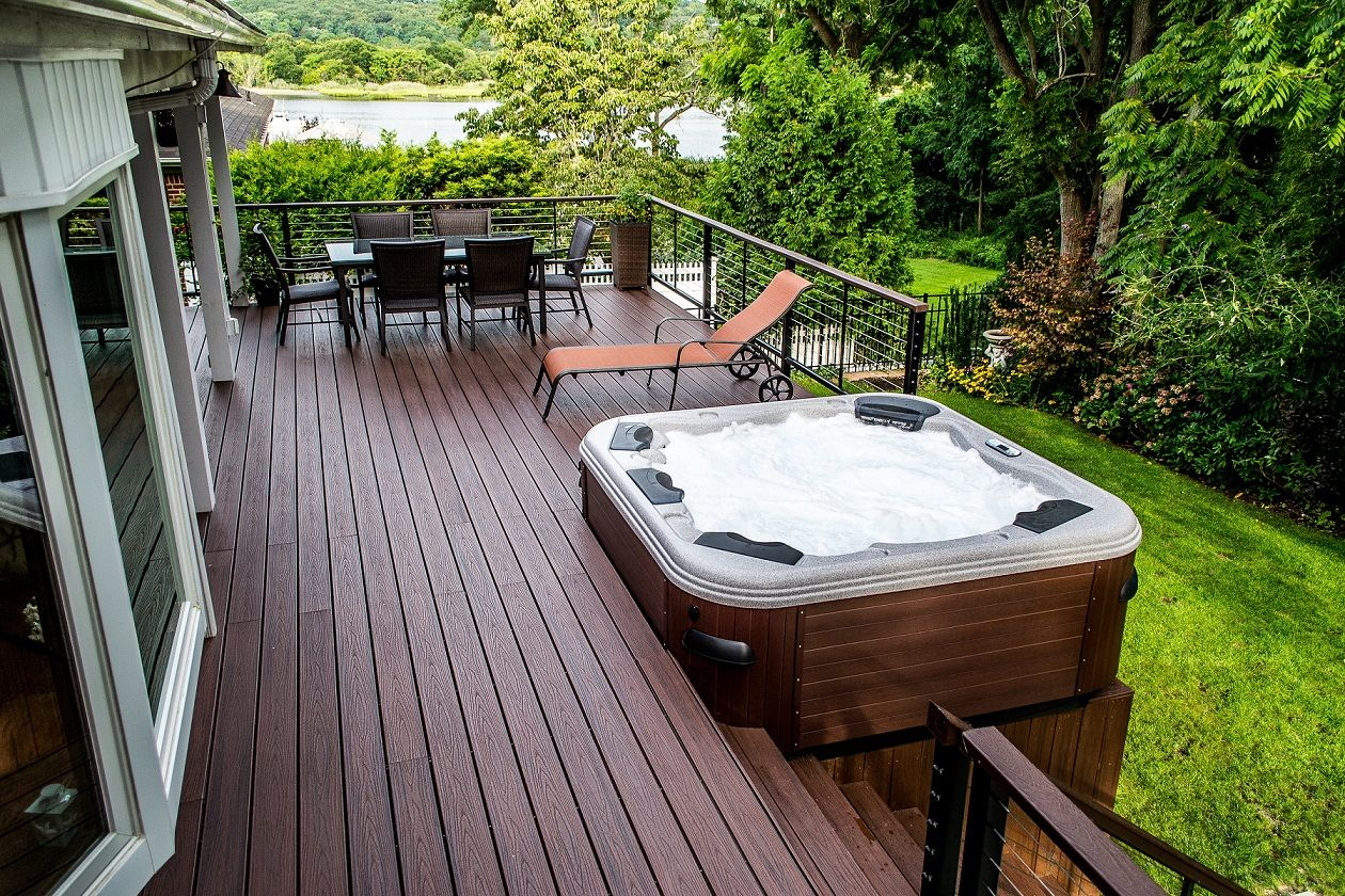 Deck plans with hot tubs decks and patios with hot tubs for Hot tub deck designs plans