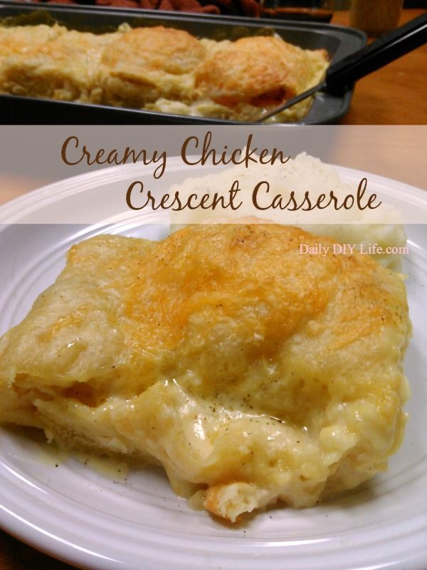 Creamy Chicken Crescent Casserole Recipe An Easy Meal For A Busy Weeknight Recipes Easy Casserole Recipes Crescent Recipes