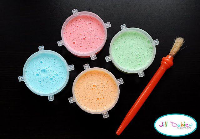 Johnson S Baby Shampoo Food Coloring And Cornstarch Make Bath Paint