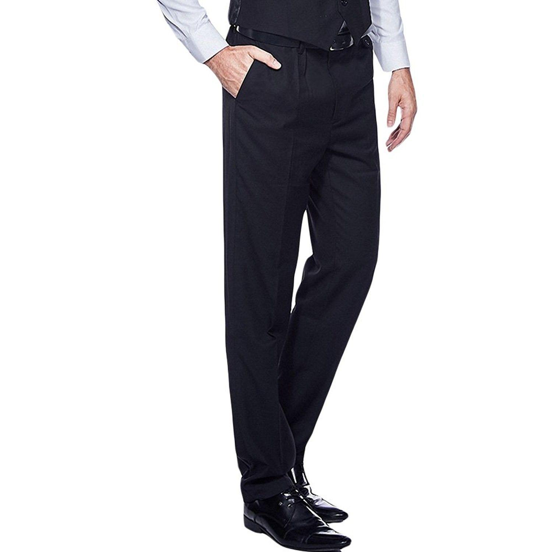 Men S Slim Fit Wrinkle Free Casual Stretch Dress Pants Tapered Flat Front Suit Pants Black Cf189xmxdml Stretch Dress Pants Pantsuit Slim Fit Men [ 1500 x 1500 Pixel ]