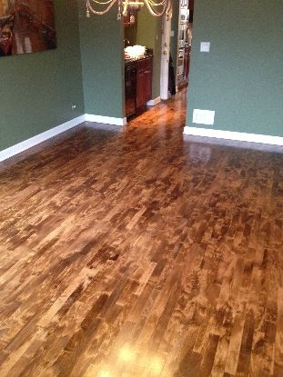 Maple floor stained kashian bros carpet and flooring for Hardwood floors and babies