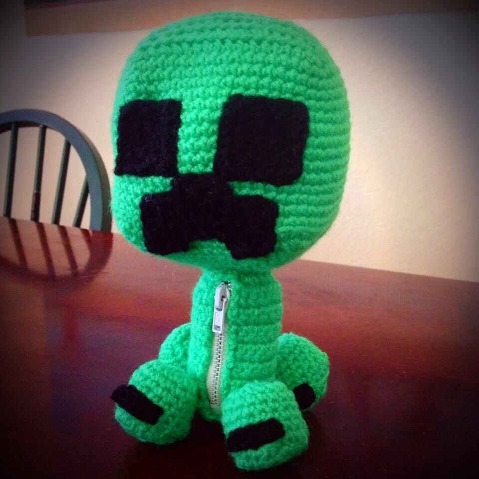 Little Big Planet Sack Boy Creeper. Crochet Amigurumi. Minecraft ...