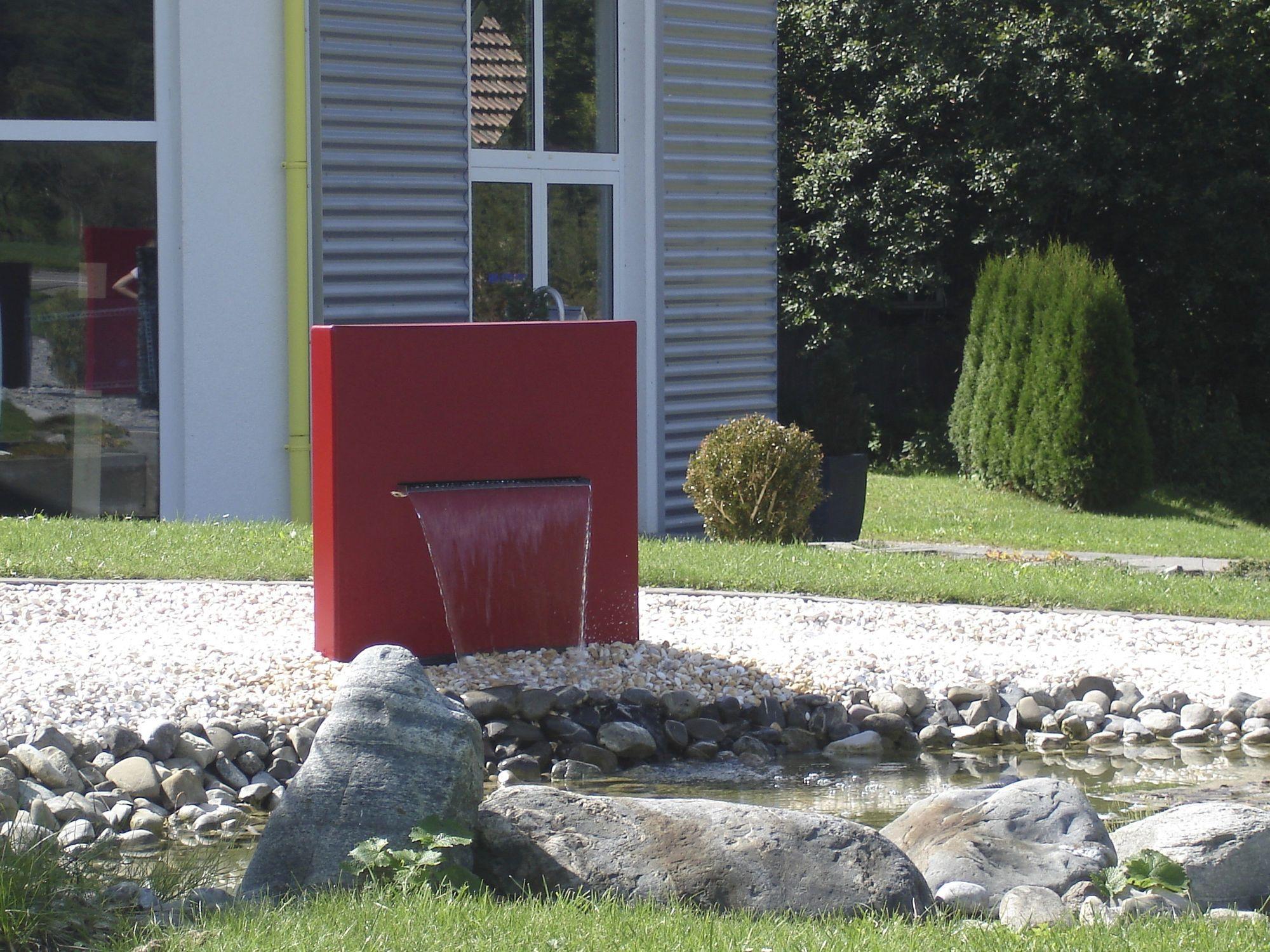 Attraktiv Garten Springbrunnen / Modern WASSERFALL STELE Slink   Ideen Mit Wasser
