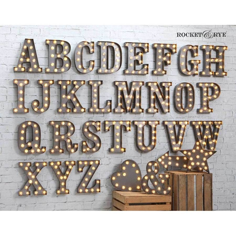 Carnival Letter Lights U0027A To Zu0027 Industrial Silver