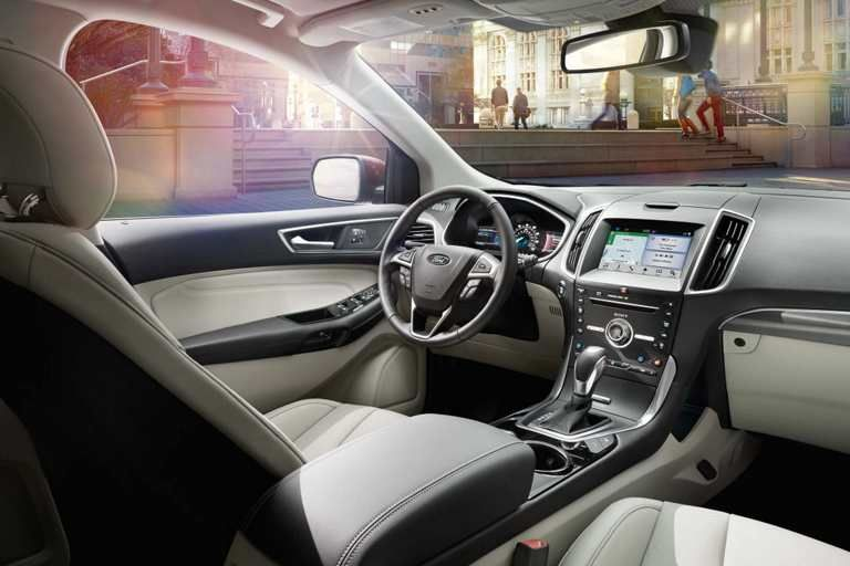 Titanium Interior In Ceramic With Images Ford Edge 2016 Ford