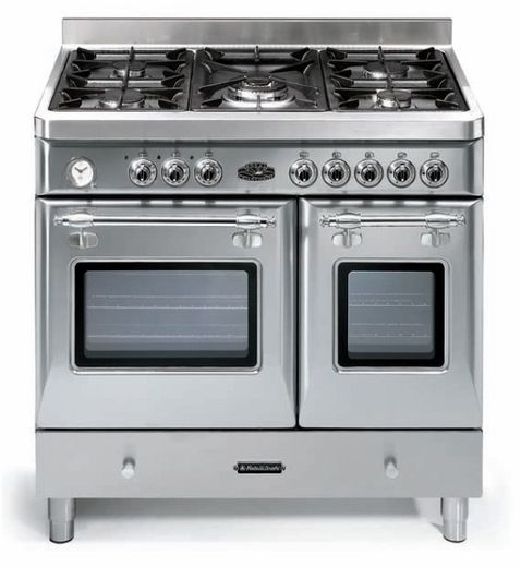 fratelli onofri royal dual fuel range with double oven 5 sealed burners stainless steel
