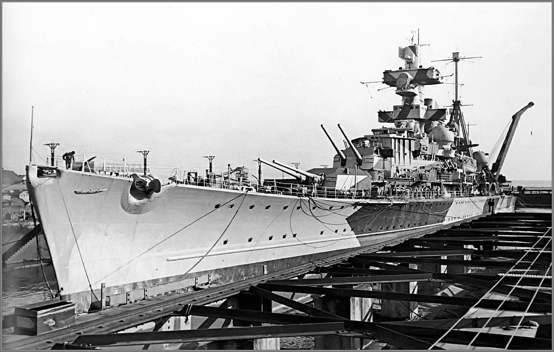 German Heavy Cruiser Admiral Hipper In Brest 1941 Heavy