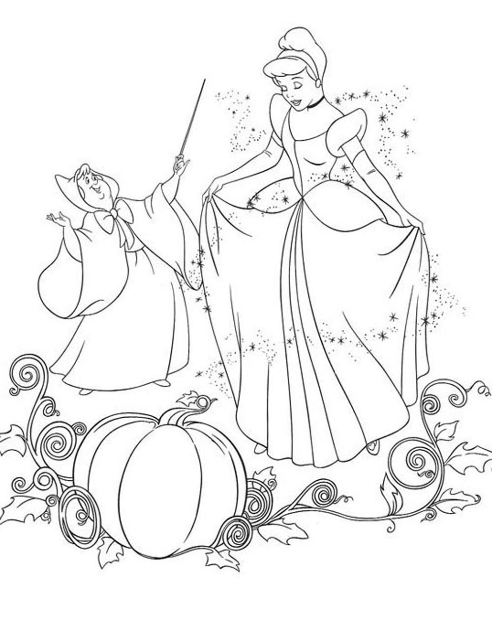 Princess Coloring Princess Cinderella Buku Mewarnai Adult