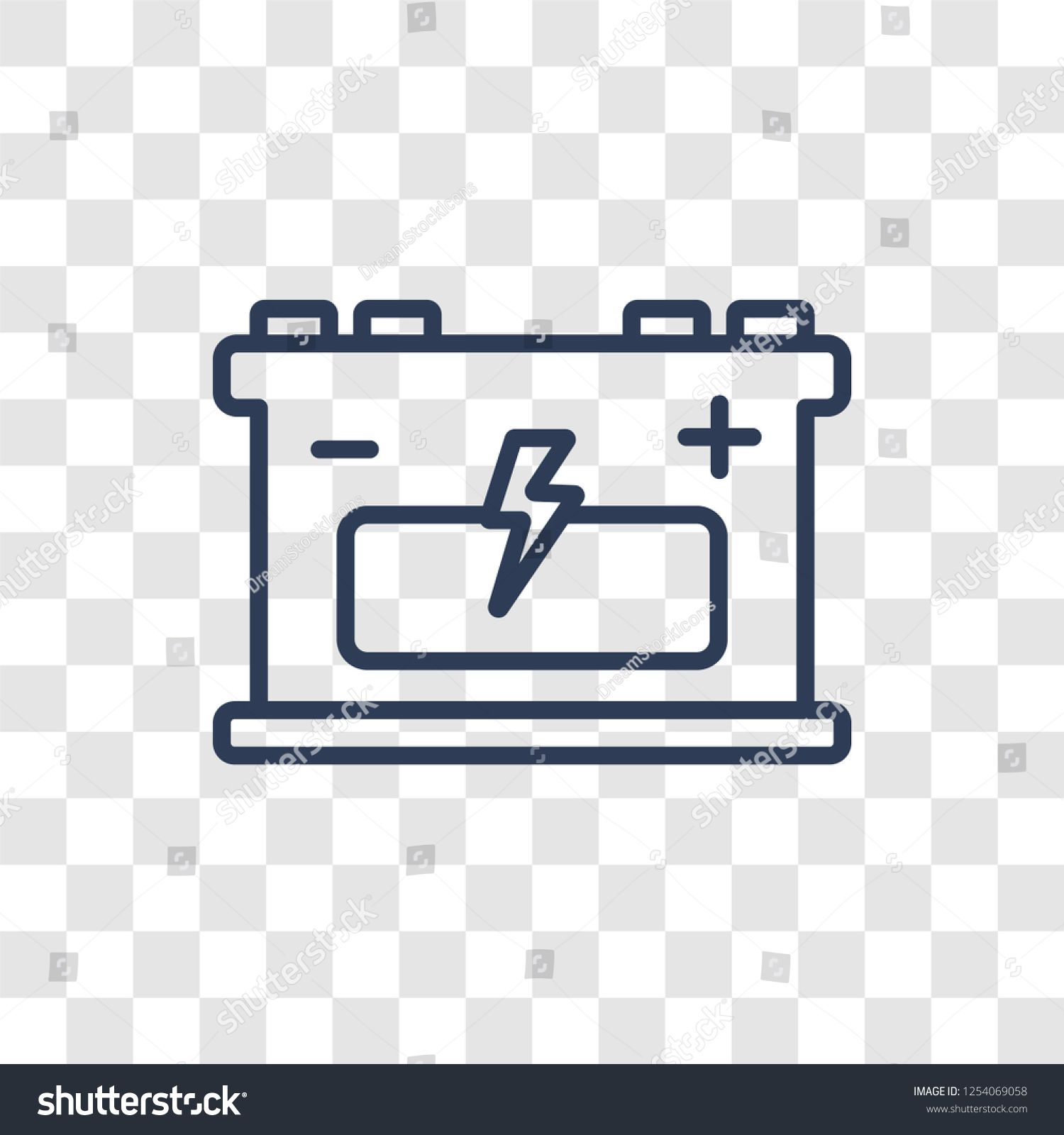 Industrial Battery Icon Trendy Linear Industrial Battery Logo Concept On Transparent Background From Industry Collectio Battery Icon Battery Logo Logo Concept