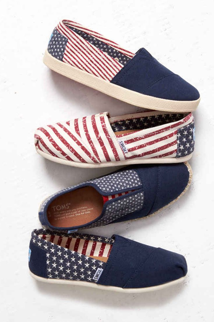 0770c3a92 Rock your red, white and blue in TOMS American flag slip on shoes ...