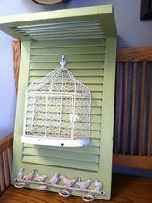 Photo of # fuglekage #birdie #hooks #Repurposed # Shutter # shutters