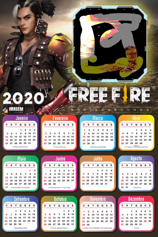 PNG Calendário 2020 Free Fire Moldura | Imagem Legal | Montagem de foto,  Fazer montagem de fotos, Calendário de fotos