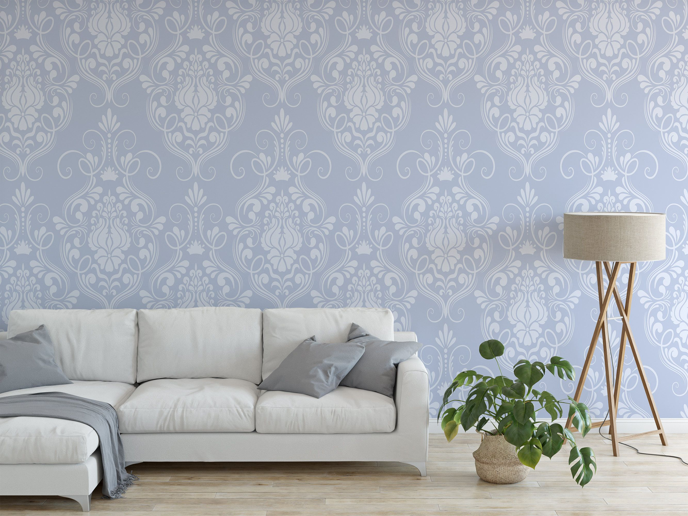 Removable Peel And Stick Wallpaper Elegant Blue Damask Etsy Vinyl Wallpaper Damask Wallpaper Peel And Stick Wallpaper