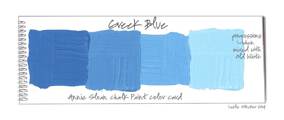 Colorways Mixing Annie Sloan Chalk Paint Colors Pure White And Greek Blue Will Give A Like The One On This Vintage Chest