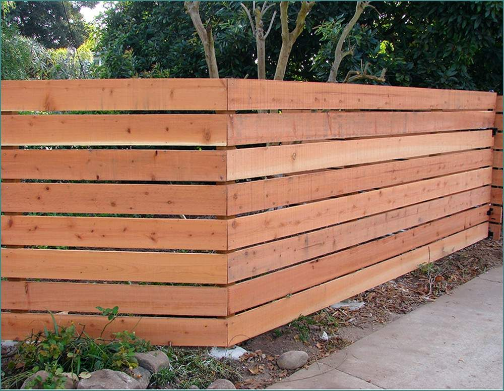 Horizontal Wood Fence Styles Backyard Fences Wood Fence Design