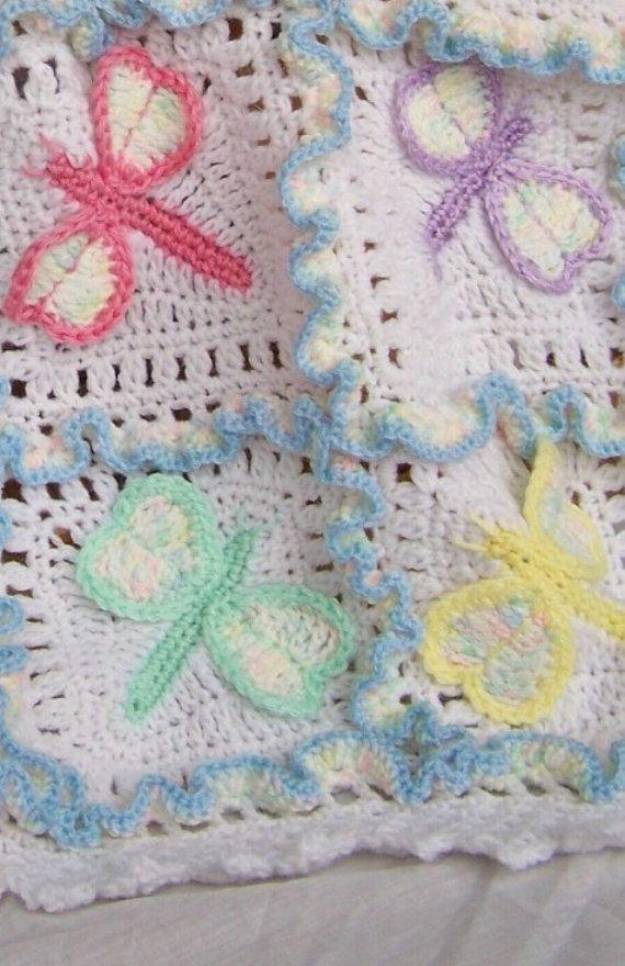 Dragonfly Dreams Crochet Baby Afghan or Blanket Pattern PDF- INSTANT ...