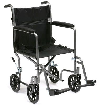 luxury steel travel chair, careco wheelchairs, transit wheelchair