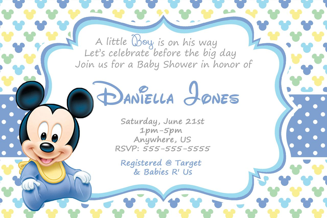 baby mickey mouse baby shower invitations cute, Baby shower invitations