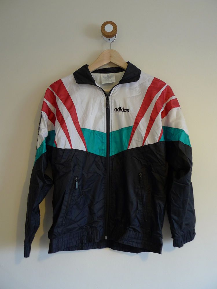 cf0184cfa536 Vintage 90 s ADIDAS crazy shell suit windbreaker bomber jacket S ...