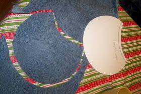 I'm SEW cheap!: Fast easy Baby Bib ...or....Mean Green Blue Jeans! (pt 5)