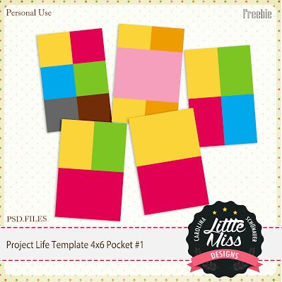 FREE Little Miss Carolina Schönauer: {FREEBIE} Project life Template Pocket Card 4x6