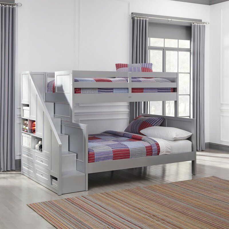 Harriet Bee Roxane Twin over Full Bunk Bed & Reviews